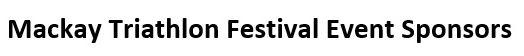 mackay tri fesitval sponsors title