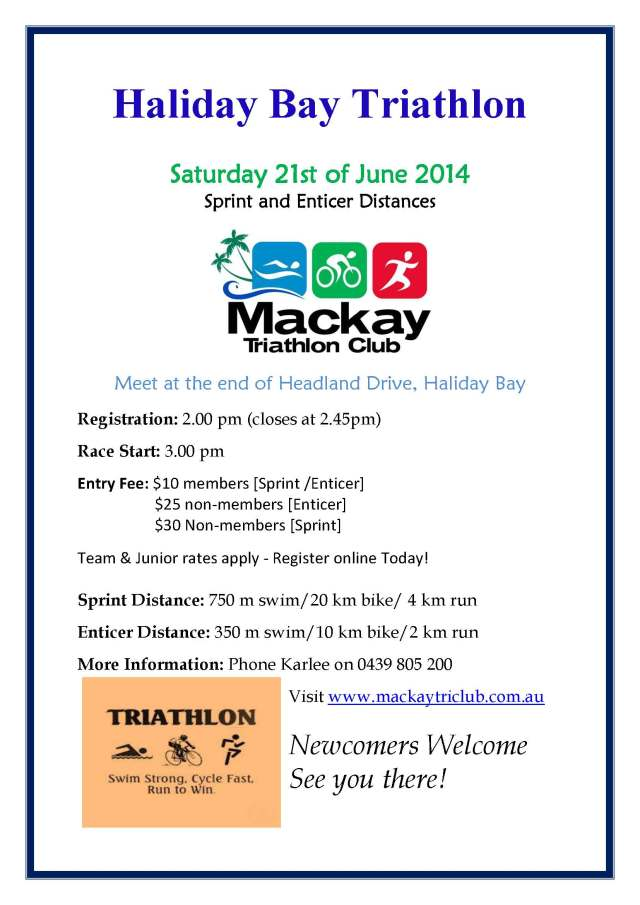 Haliday Bay Triathlon